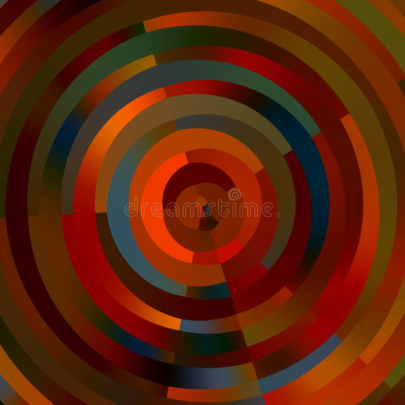 Иллюстрация искусства конструкция самомоднейшая Орнаментальные декоративные кольца абстрактная предпосылка Колесо цвета покрасьте иллюстрация штока