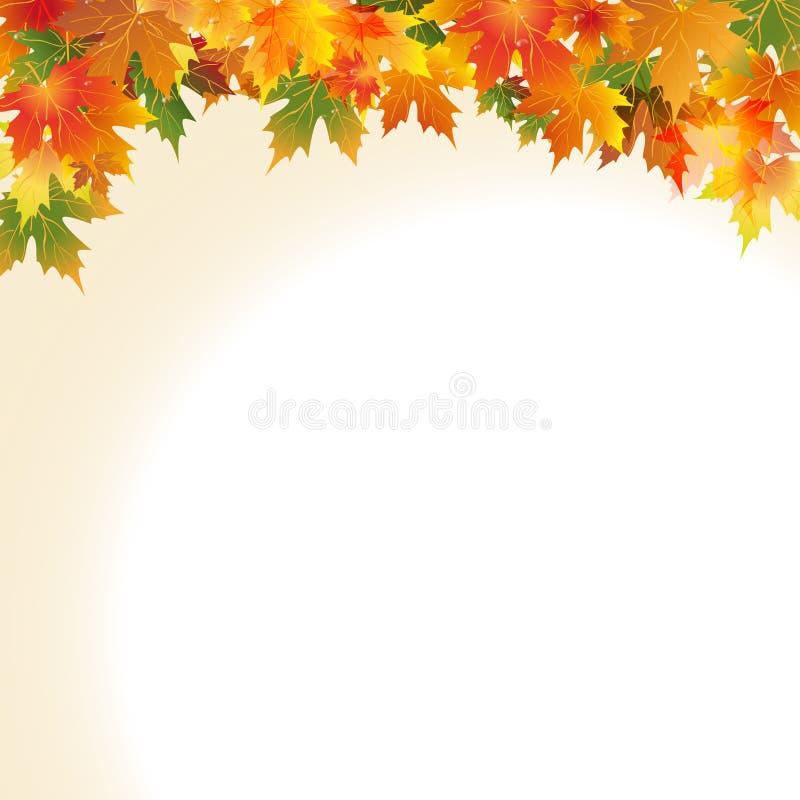 Иллюстрация листьев падения стоковая фотография rf