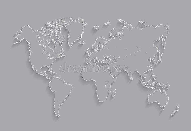 Иллюстрация карты миров границы иллюстрация штока