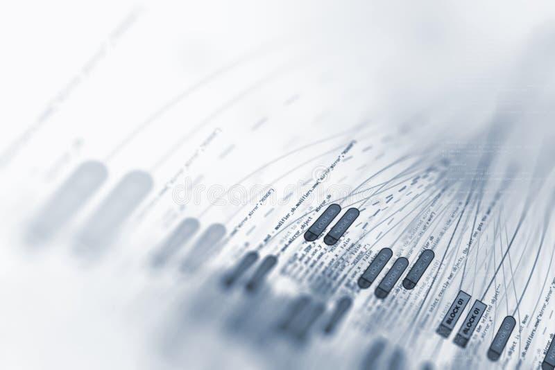 Иллюстрация конспекта визуализирования больших данных футуристическая иллюстрация штока
