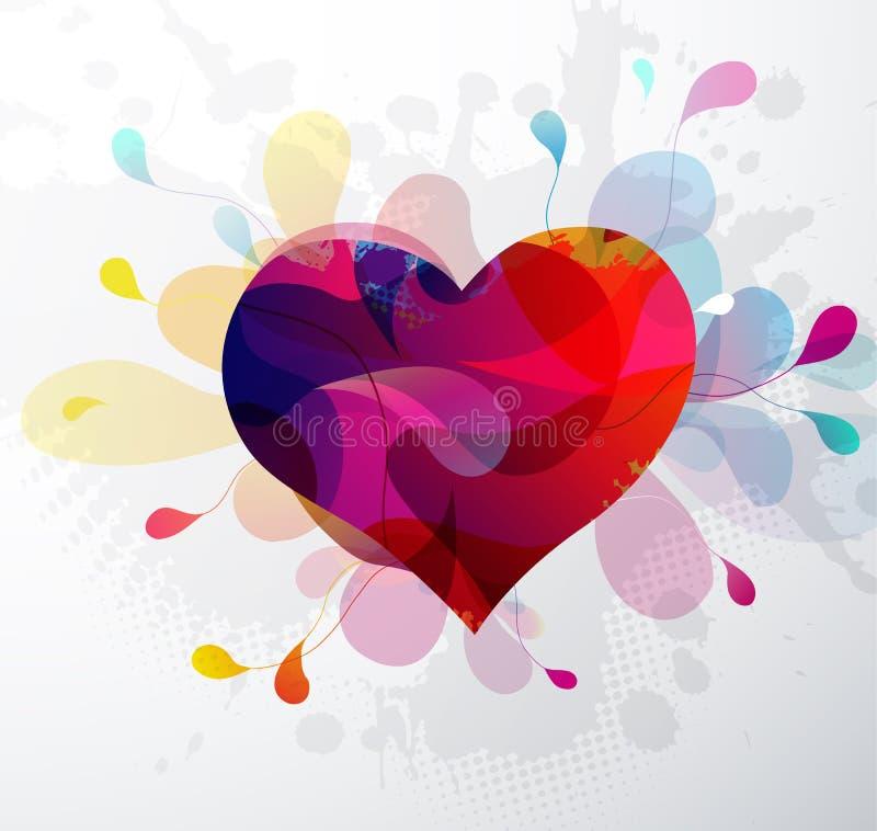 Иллюстрация конспекта формы сердца на день ` s валентинки иллюстрация вектора