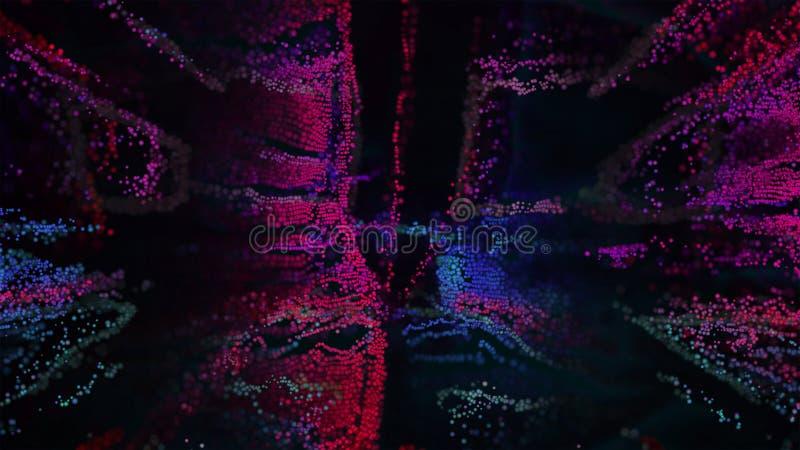 Иллюстрация конспекта 3D искусства пиксела стоковое изображение rf