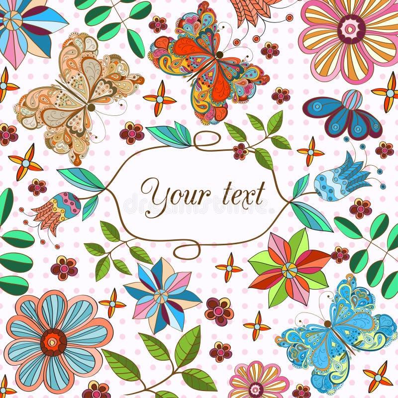 Download иллюстрация конструкции карточки флористическая ваша Иллюстрация вектора - иллюстрации насчитывающей backhoe, concept: 41662769