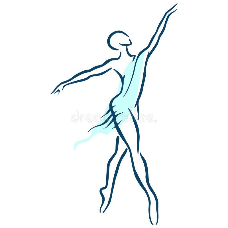 иллюстрация конструкции танцора балета красивейшая иллюстрация вектора