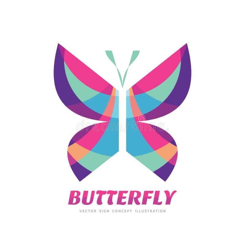 Иллюстрация концепции знака вектора бабочки в плоском дизайне стиля искусство декоративное иллюстрация вектора