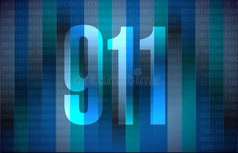 иллюстрация концепции знака 911 binary бесплатная иллюстрация