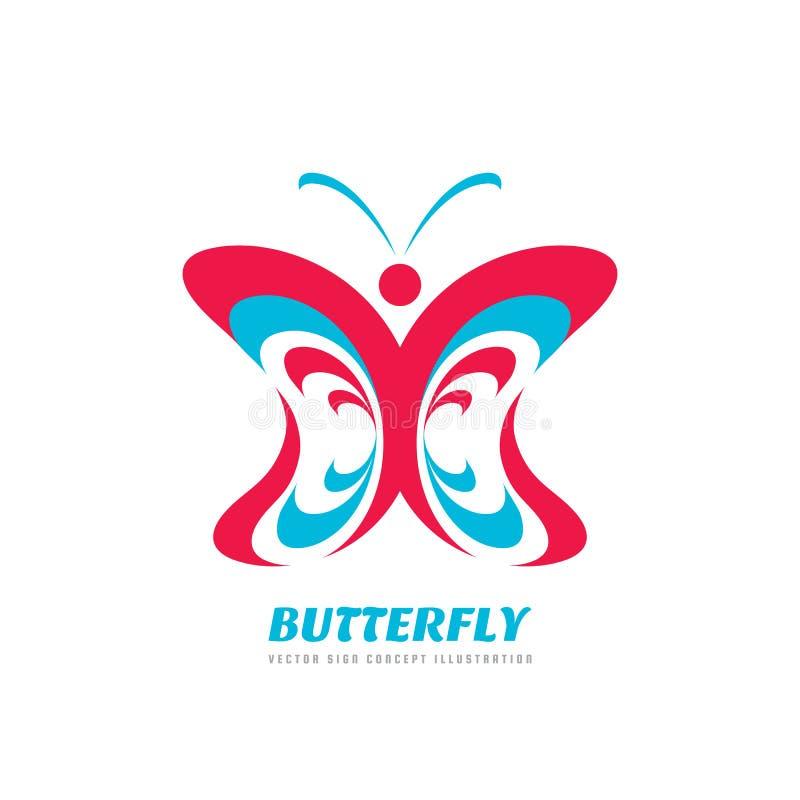 Иллюстрация концепции логотипа вектора бабочки в плоском дизайне стиля искусство декоративное иллюстрация вектора