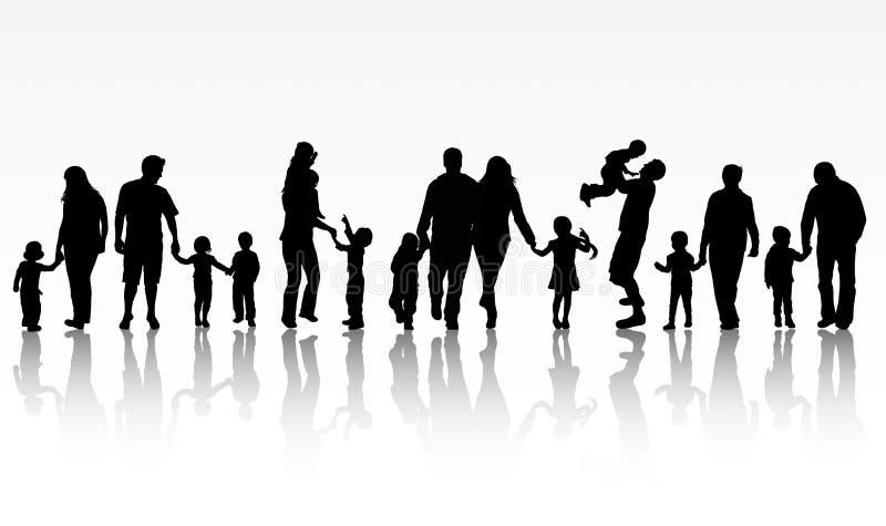 Иллюстрация концепции семьи иллюстрация штока