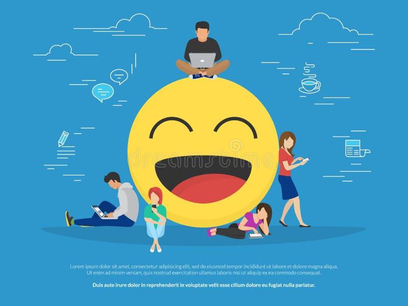 Иллюстрация концепции Emoji бесплатная иллюстрация