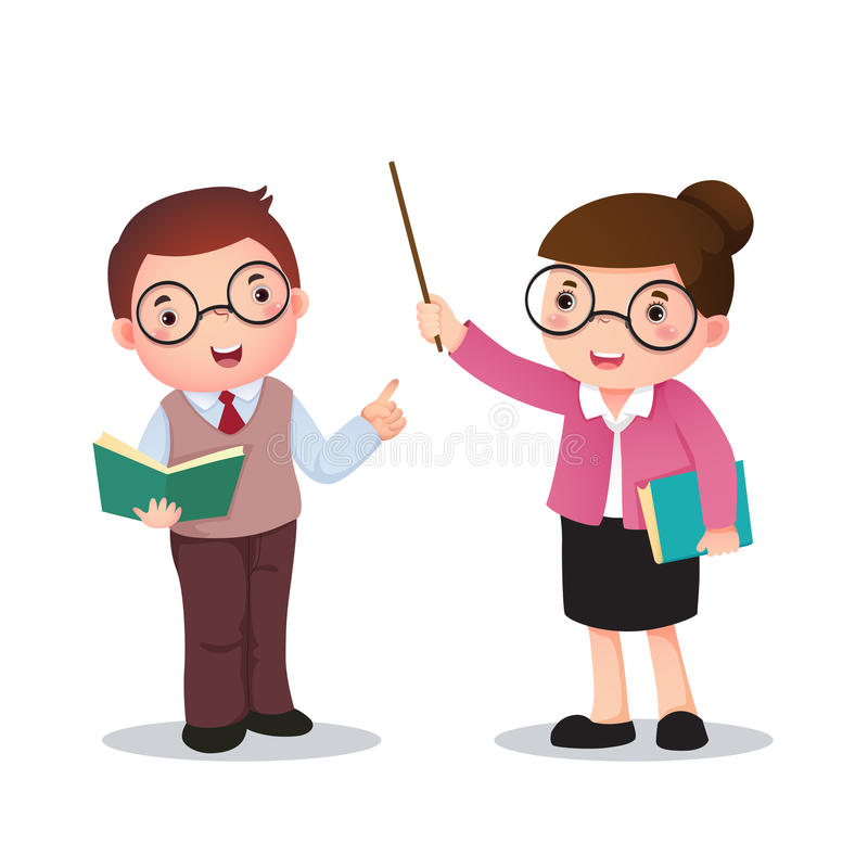 Иллюстрация костюма profession's учителя для детей иллюстрация штока