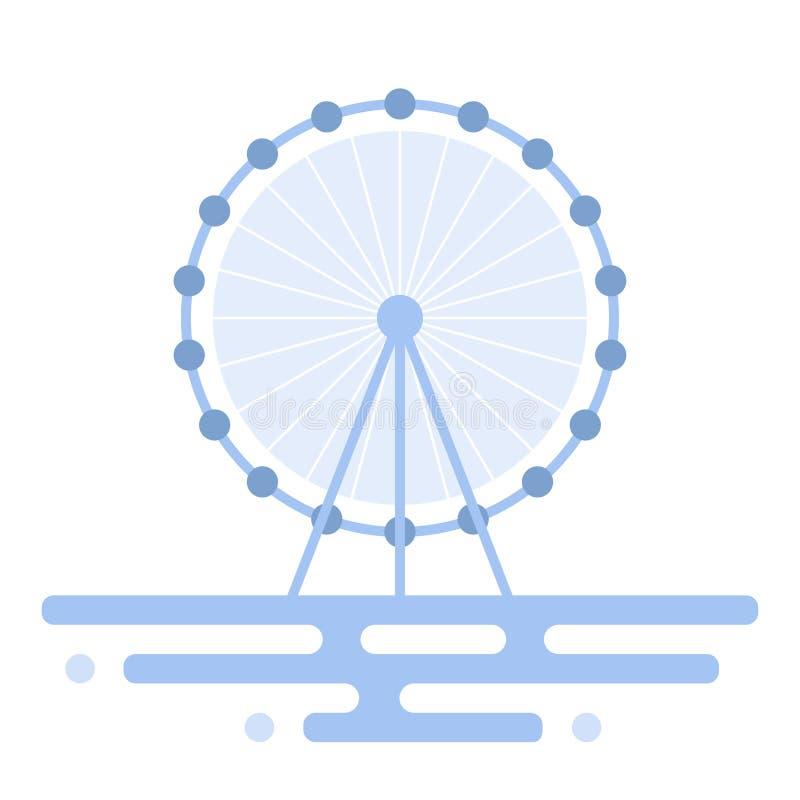 Иллюстрация колеса Ferris иллюстрация вектора