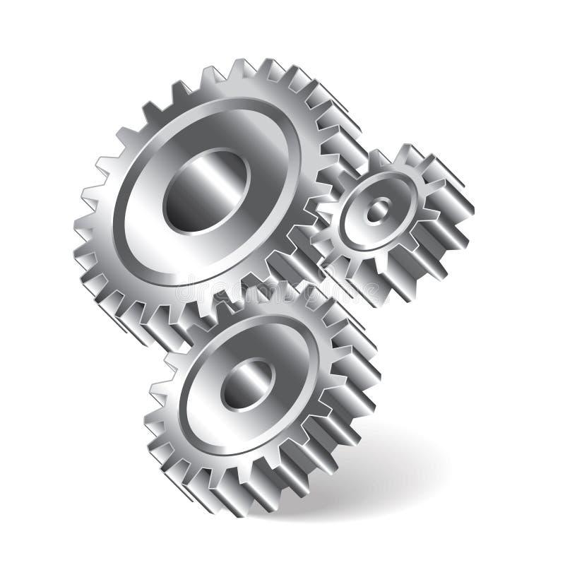 Иллюстрация 3 колес шестерни бесплатная иллюстрация