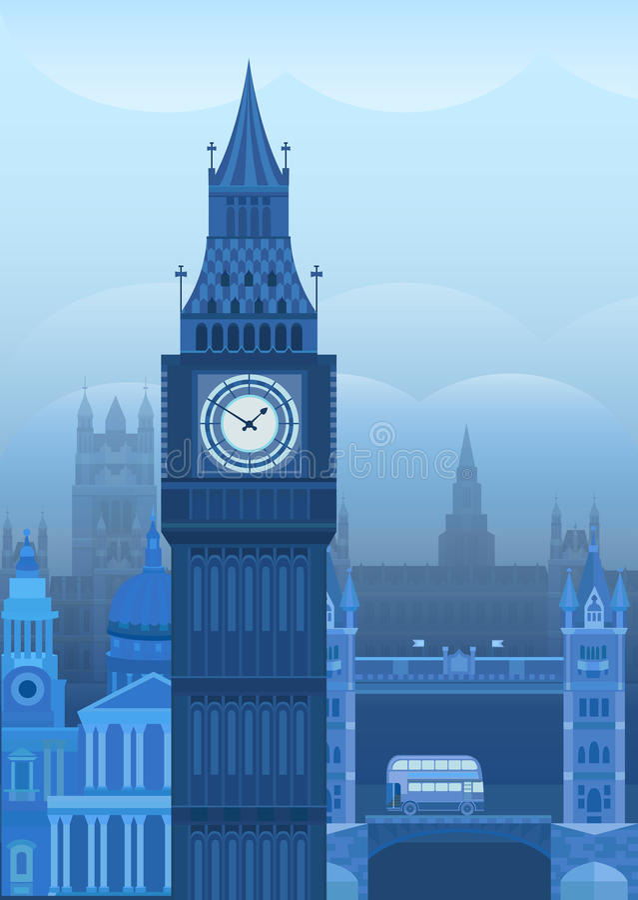 Иллюстрация Лондон вектора иллюстрация штока