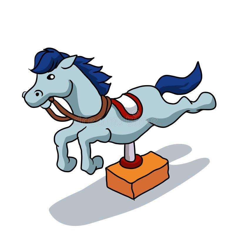 Иллюстрация механически лошади иллюстрация вектора