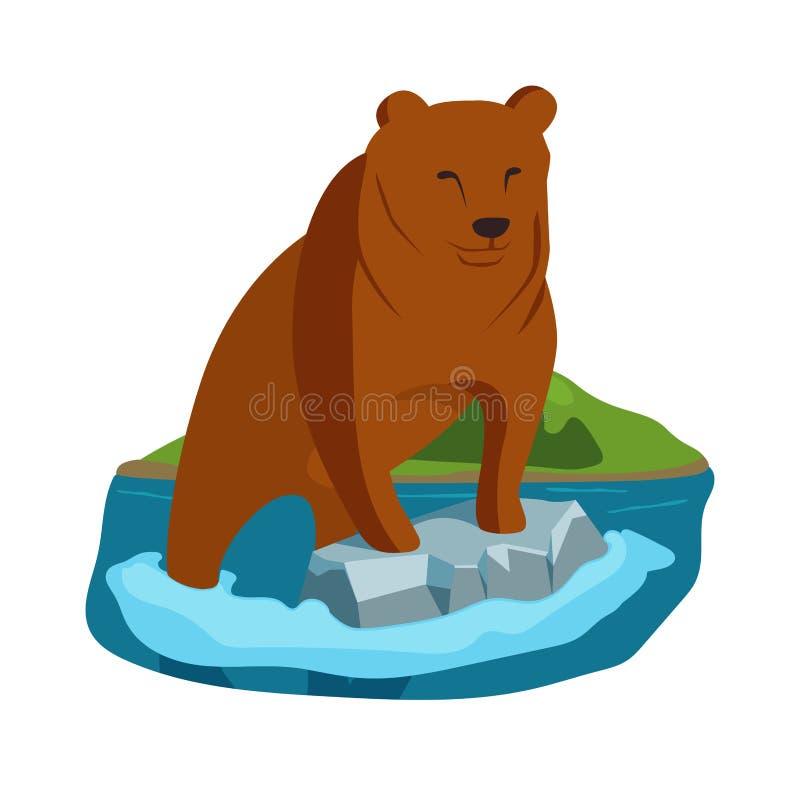 Иллюстрация медведя Аляски иллюстрация штока