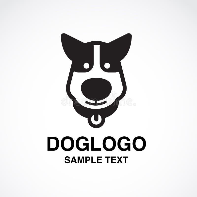 Иллюстрация милого логотипа собаки на белой предпосылке стоковые фотографии rf