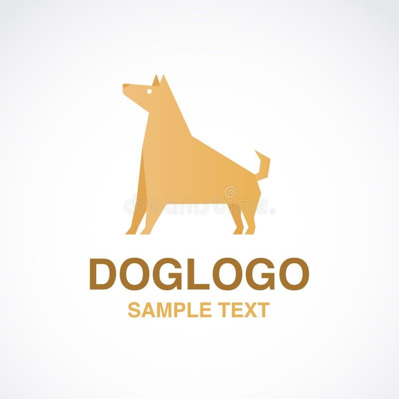 Иллюстрация милого логотипа собаки на белой предпосылке стоковое фото