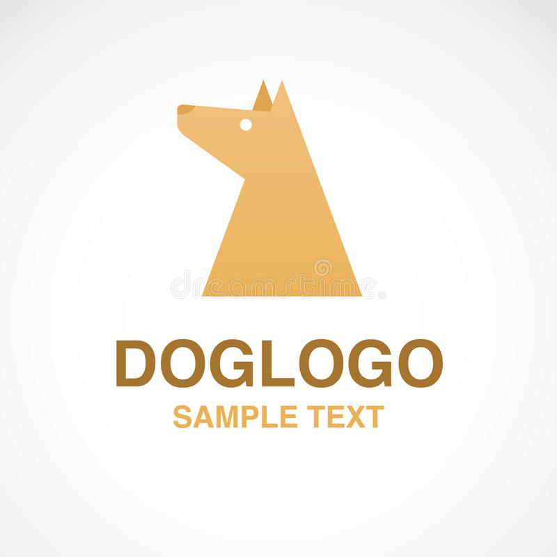 Иллюстрация милого логотипа собаки на белой предпосылке стоковые изображения rf