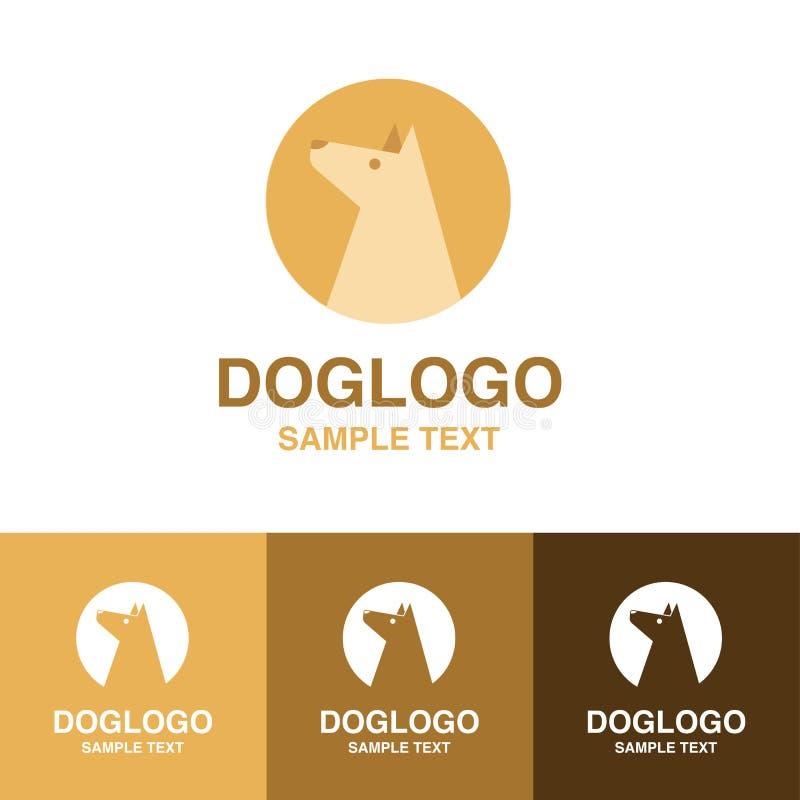Иллюстрация милого логотипа собаки на белой предпосылке стоковая фотография