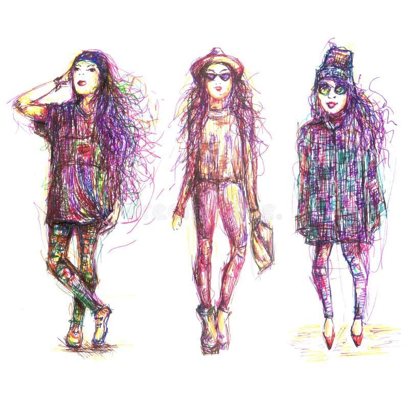 Иллюстрация моды улицы стоковые изображения rf