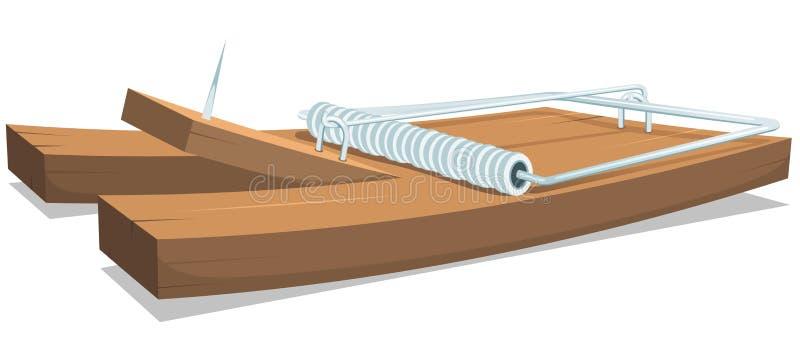 Ловушка мыши или крысы иллюстрация вектора