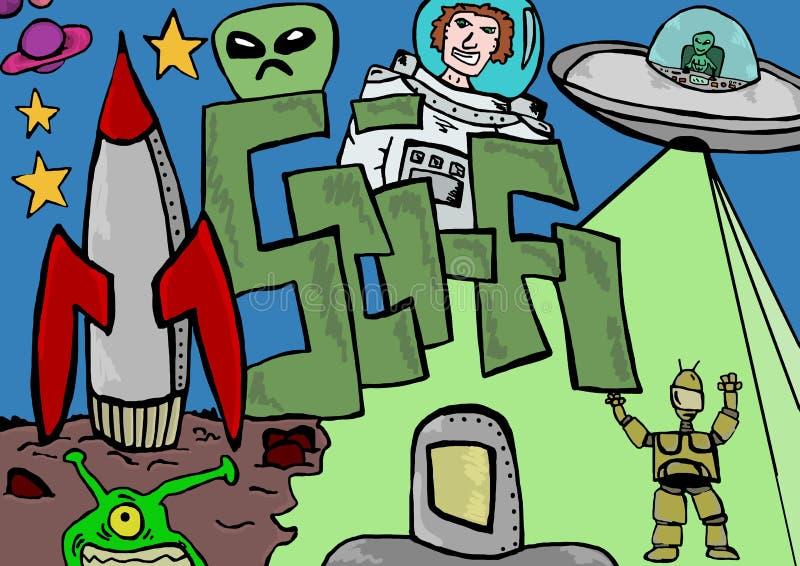 Download Иллюстрация научной фантастики Иллюстрация штока - иллюстрации насчитывающей будущее, эскиз: 41654961