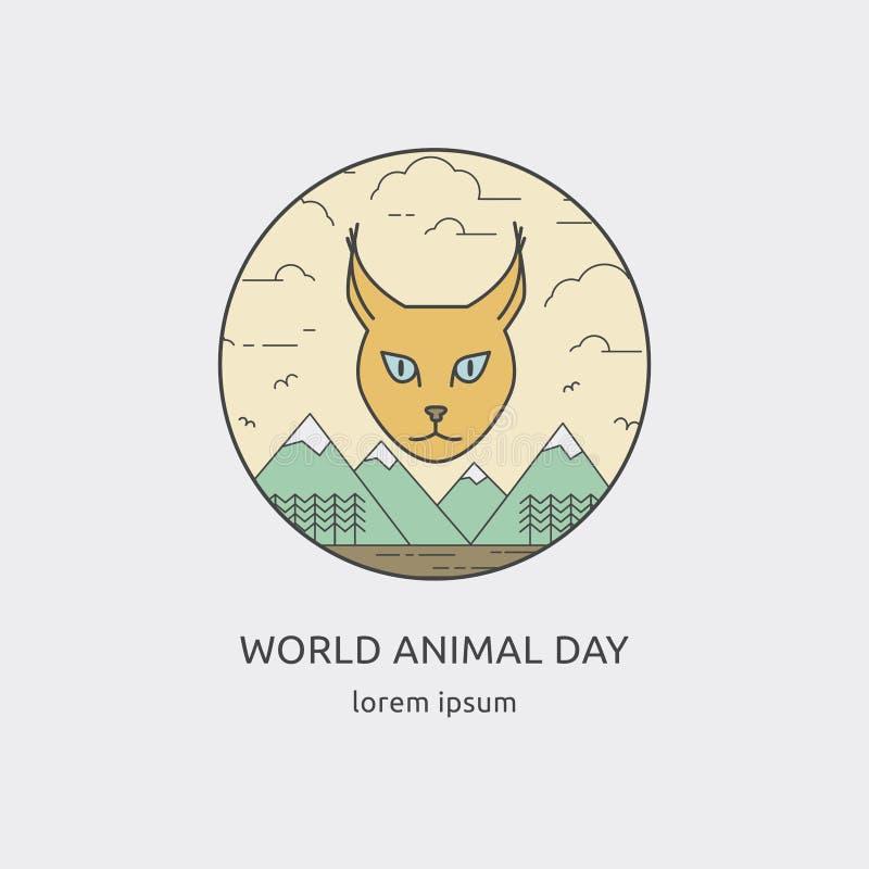 Иллюстрация дня мира животная иллюстрация штока