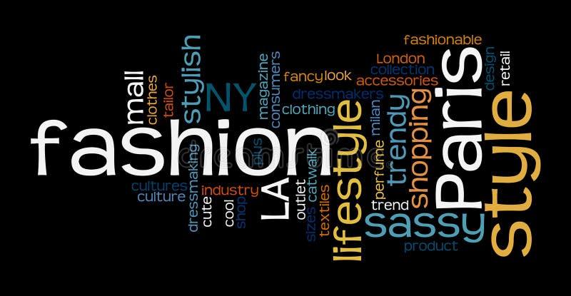 Иллюстрация облака бирки слова моды бесплатная иллюстрация