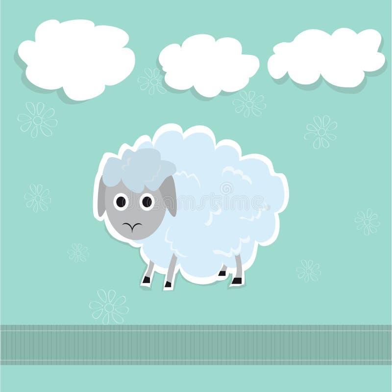 Иллюстрация овец и облаков милая стоковое фото rf