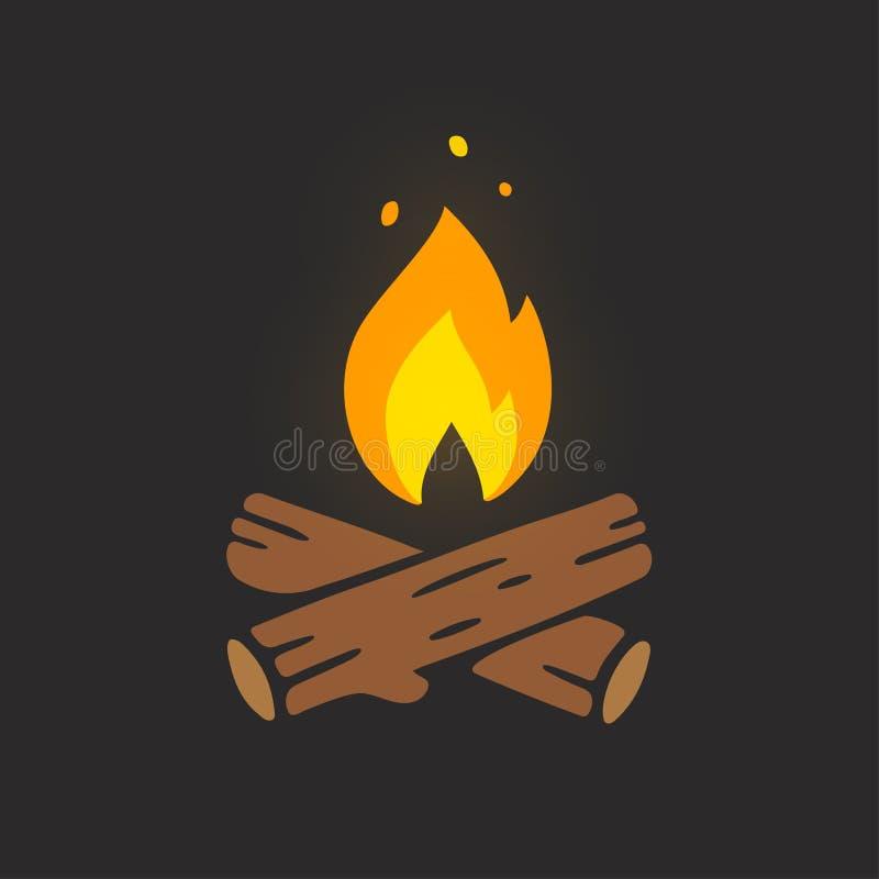 Иллюстрация логотипа лагерного костера бесплатная иллюстрация