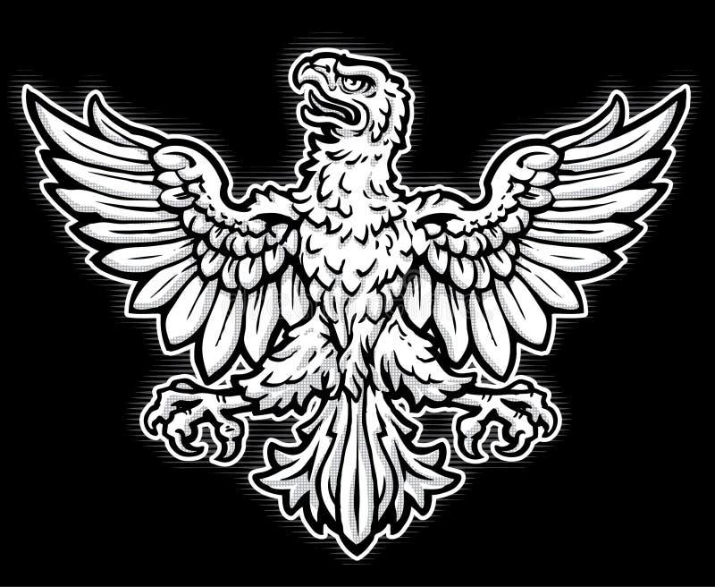 Heraldic орел иллюстрация штока