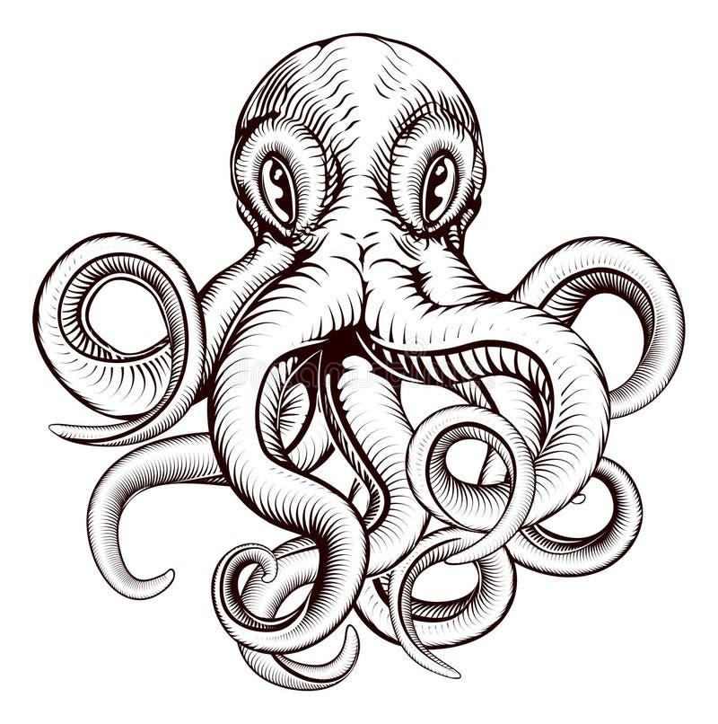 Иллюстрация осьминога иллюстрация вектора