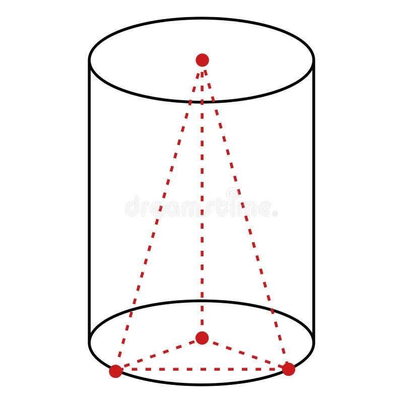Иллюстрация отдельной линии вектора - цилиндр иллюстрация вектора