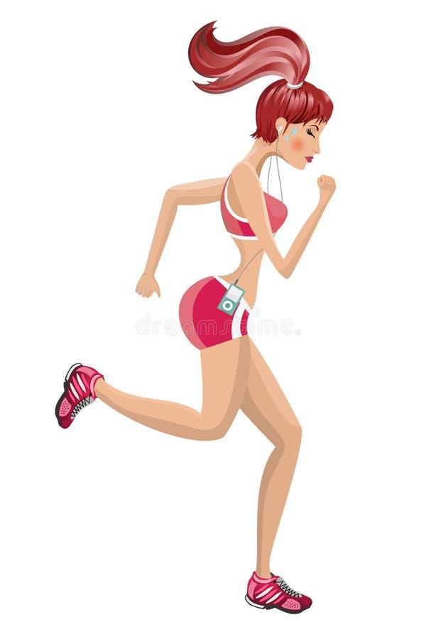 Атлетический ход женщины иллюстрация вектора