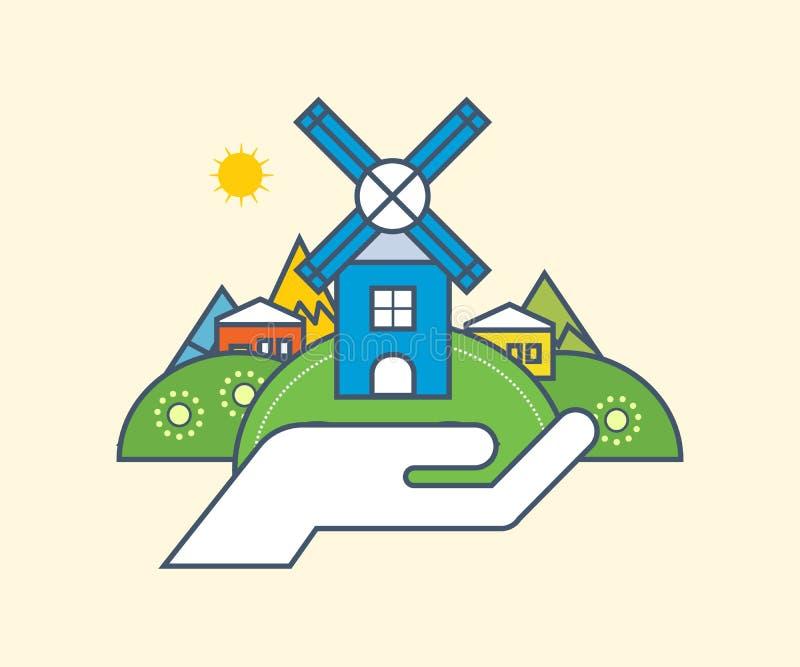 Иллюстрация охраны окружающей среды бесплатная иллюстрация