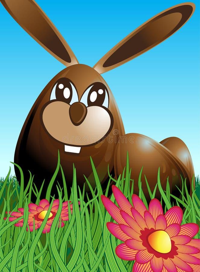 Кролик и яичка пасхи иллюстрация вектора