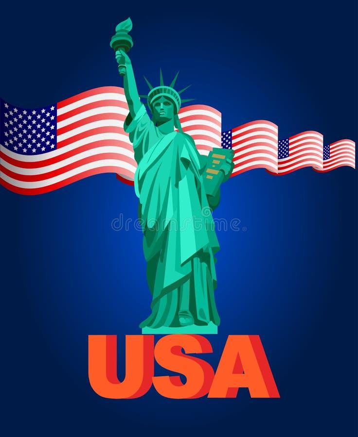 Иллюстрация патриотические Соединенные Штаты Америки, США, иллюстрация вектора иллюстрация штока