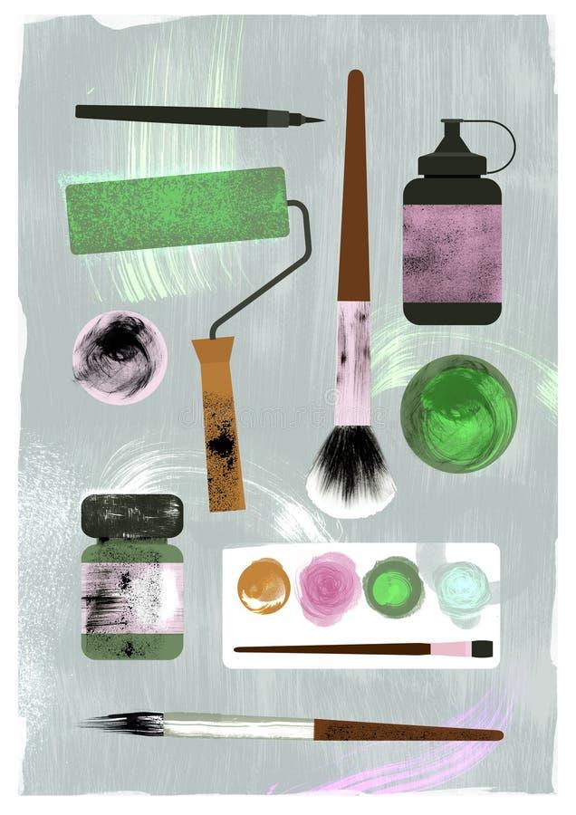 Иллюстрация поставек искусства Texture effect бесплатная иллюстрация