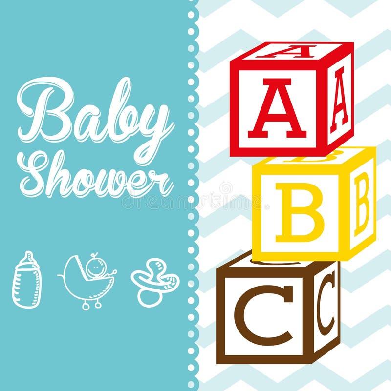 иллюстрация потехи карточки младенца прибытия иллюстрация штока