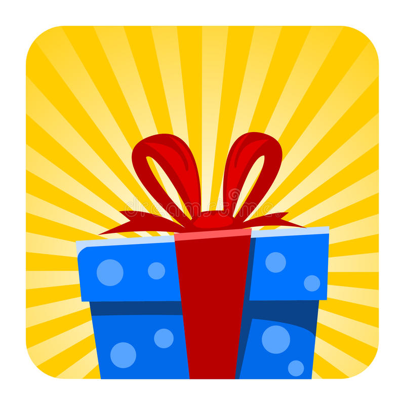 Иллюстрация подарочной коробки шаржа вектора бесплатная иллюстрация