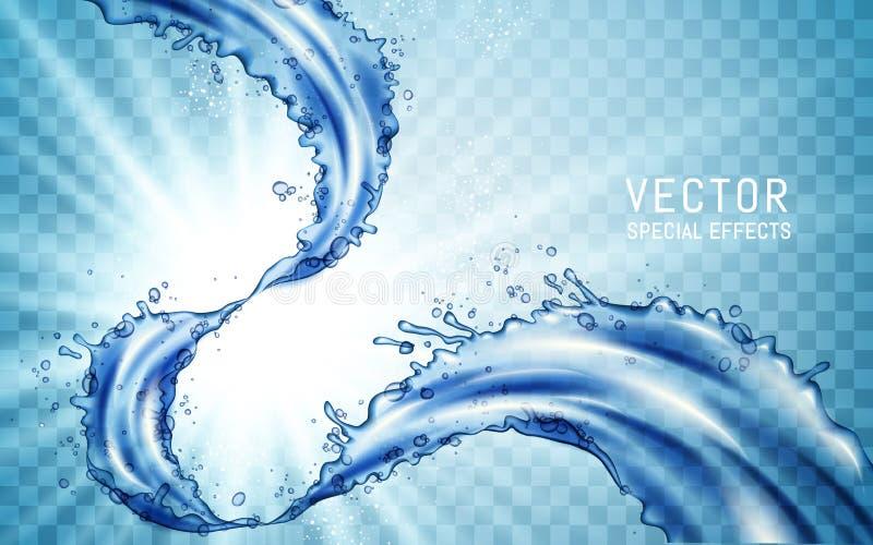 Иллюстрация подачи воды бесплатная иллюстрация