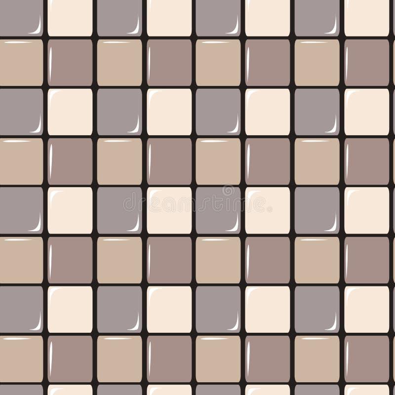 Иллюстрация предпосылки картины теплой пастельной абстрактной квадратной текстуры безшовная иллюстрация вектора