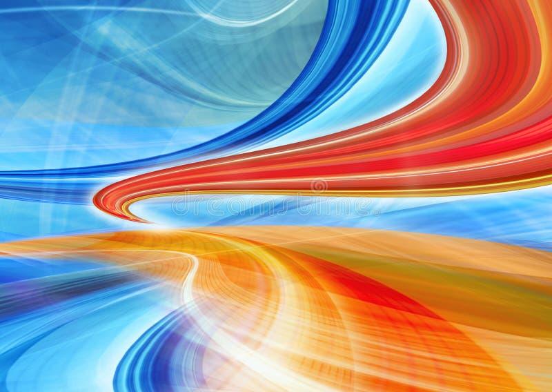 Иллюстрация предпосылки технологии, абстрактная скорость иллюстрация вектора