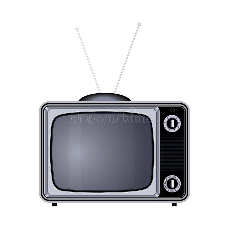Иллюстрация прибора телевизора ретро старая винтажная иллюстрация штока