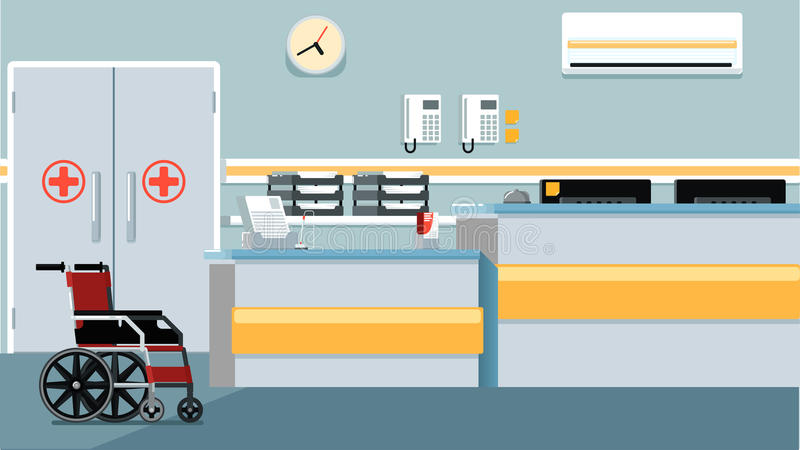 Иллюстрация приема больницы иллюстрация штока