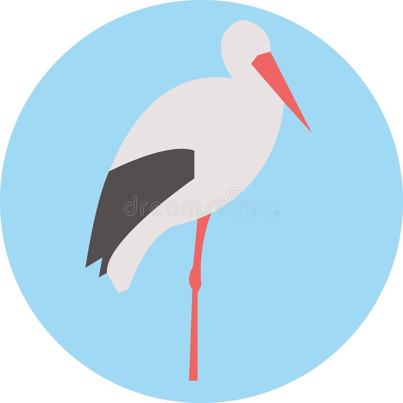 Иллюстрация птицы белого аиста стоковое фото