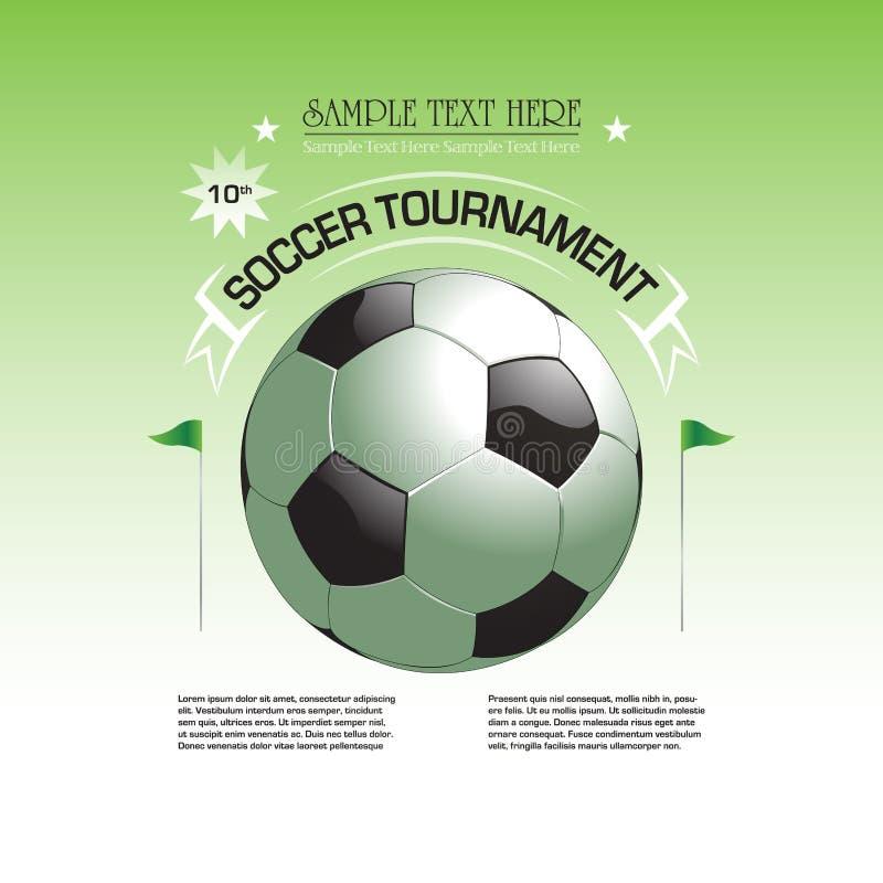 Иллюстрация плаката приглашения турнира футбола иллюстрация вектора