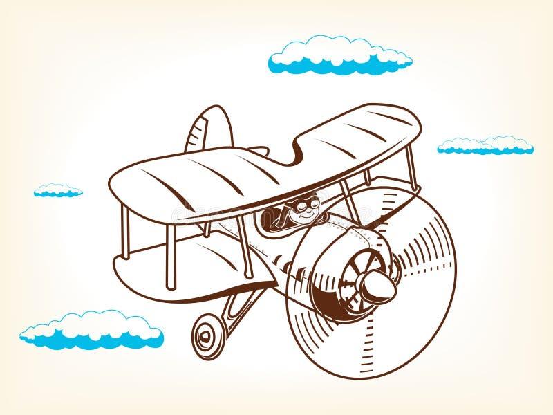 Иллюстрация плоского вектора шаржа иллюстрация вектора