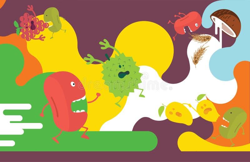 Иллюстрация плодоовощ стоковое изображение