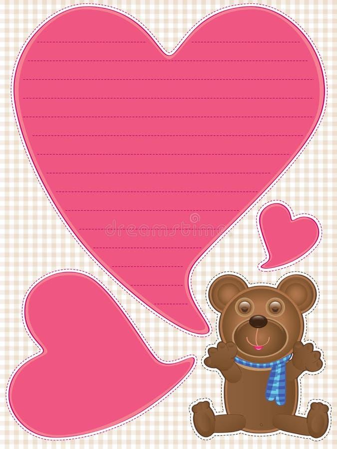 Плюшевый медвежонок говорит Love_eps иллюстрация штока